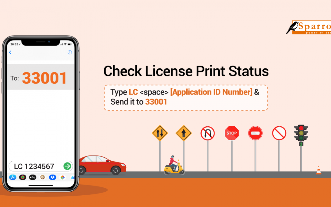 How to Check Driving License Print Status and Exam Result by SMS