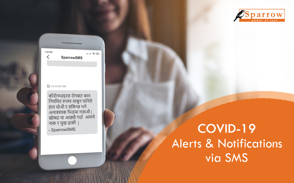 Covid 19 alerts and notification via sms